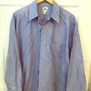 Lacoste blue button down dress shirt 👔 🐊